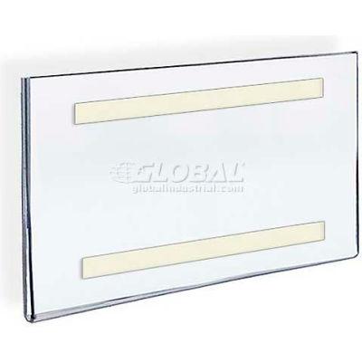 "Azar Displays 122017 Horizontal Wall Mount Sign Holder W/ Adhesive Tape, 11"" x 7"""