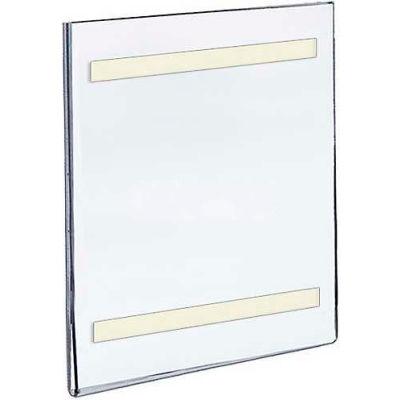 "Azar Displays 122019 Vert. Wall Mount Acrylic Sign Holder W/ Adhesive Tape, 7"" x 11"""