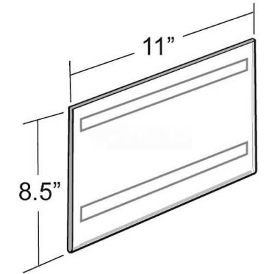 "Azar Displays 122022 Horizontal Wall Mount Sign Holder W/ Adhesive Tape, 11"" x 8.5"""