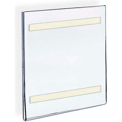 "Azar Displays 122024 Vert. Wall Mount Acrylic Sign Holder W/ Adhesive Tape-5.5"" x 8.5"""