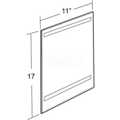 """Azar Displays 122032 Vertical Wall Mount Sign Holder W/ Adhesive Tape, 11"""" x 17"""""""