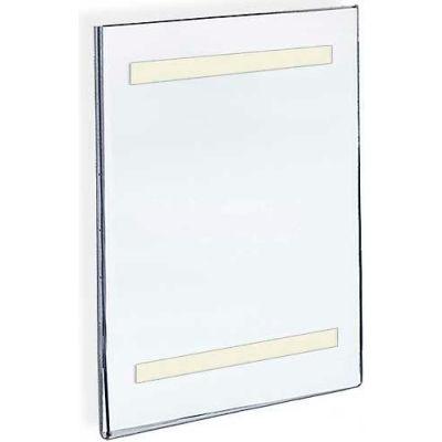 "Azar Displays 122039 Vert. Wall Mount Acrylic Sign Holder W/ Adhesive Tape, 17"" x 22"""