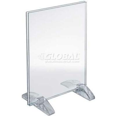 "Azar Displays 132714 Vertical/Horizontal Dual-Stand Sign Holder, 8.5"" x 11"""