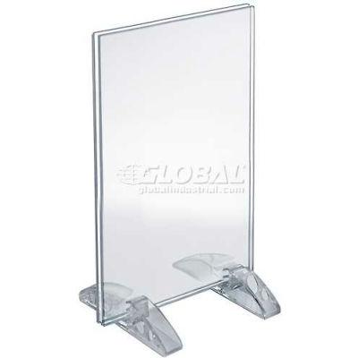 "Azar Displays 132716 Vertical/Horizontal Dual-Stand Sign Holder, 7"" x 11"""