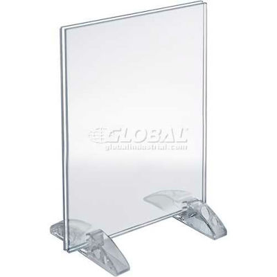 "Azar Displays 132718 Vertical/Horizontal Dual-Stand Sign Holder, 8"" x 10"""
