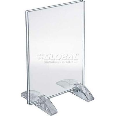 "Azar Displays 132726 Vertical/Horizontal Dual-Stand Sign Holder, 4"" x 6"""