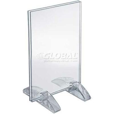 "Azar Displays 132729 Vertical/Horizontal Dual-Stand Sign Holder, 4"" x 5"""