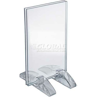 "Azar Displays 132731 Vertical/Horizontal Dual-Stand Sign Holder, 3.5"" x 5"""