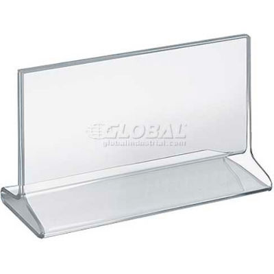 "Azar Displays 142704 Horizontal Top Load Acrylic Sign Holder, 8.5"" x 5.5"""