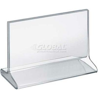"Azar Displays 142707 Horizontal Top Load Acrylic Sign Holder, 7"" x 5.5"""
