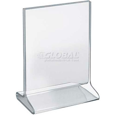 "Azar Displays 142709 Vertical Top Load Acrylic Sign Holder, 5.5"" x 7"""