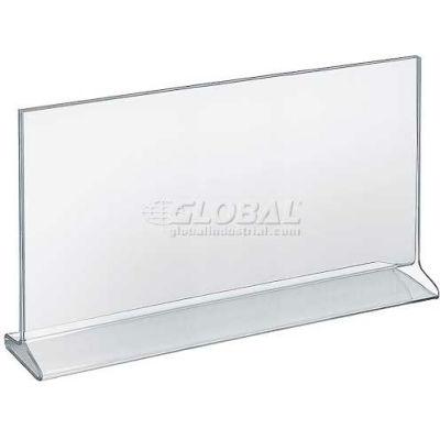 "Azar Displays 142713 Horizontal Top Load Acrylic Sign Holder, 14"" x 8.5"""