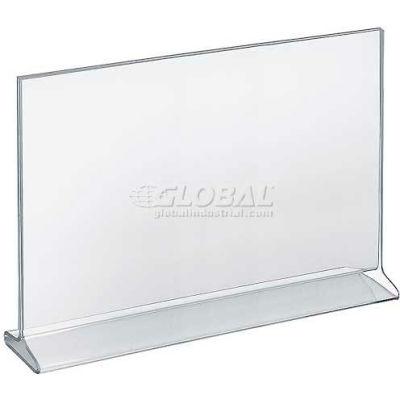 "Azar Displays 142716 Horizontal Top Load Acrylic Sign Holder, 14"" x 11"""