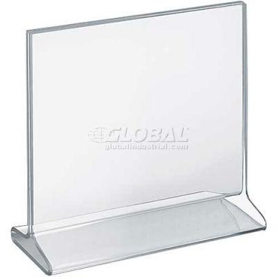 "Azar Displays 142717 Horizontal Top Load Acrylic Sign Holder, 8.5"" x 8.5"""