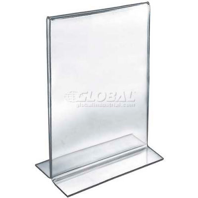 "Azar Displays 152710 Vertical Double Sided Stand Up Sign Holder, 11"" x 14"", Acrylic"