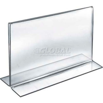 """Azar Displays 152715 Horizontal Double Sided Stand Up Sign Holder, 11"""" x 8.5"""", Acrylic"""