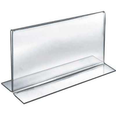 """Azar Displays 152717 Horizontal Double Sided Stand Up Sign Holder, 11"""" x 7"""", Acrylic"""