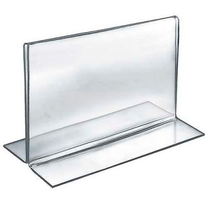 """Azar Displays 152721 Horizontal Double Sided Stand Up Sign Holder, 7"""" x 5.5"""", Acrylic"""