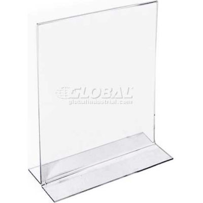 """Azar Displays 152722 Vertical Double Sided Stand Up Sign Holder, 5"""" x 7"""", Acrylic"""
