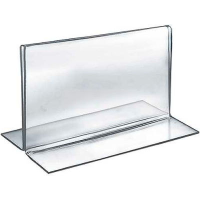 """Azar Displays 152723 Horizontal Double Sided Stand Up Sign Holder, 7"""" x 5"""", Acrylic"""