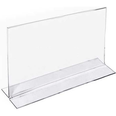 """Azar Displays 152727 Horizontal Double Sided Stand Up Sign Holder, 6"""" x 4"""", Acrylic"""