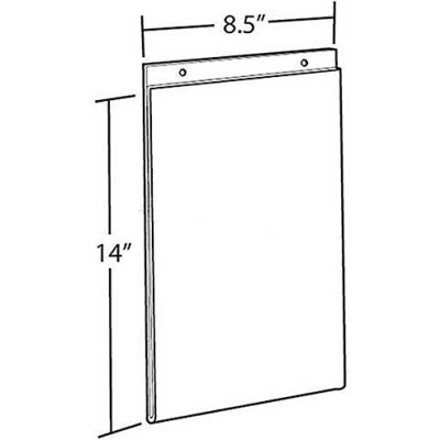 "Azar Displays 162707 Vertical Wall Mount Acrylic Sign Holder, 8.5"" x 14"", Acrylic"