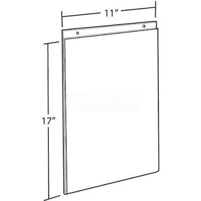 "Azar Displays 162708 Vertical Wall Mount Acrylic Sign Holder, 11"" x 17"", Acrylic"