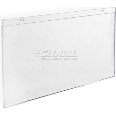 "Azar Displays 162709 Horizontal Wall Mount Acrylic Sign Holder, 17"" x 11"", Acrylic"