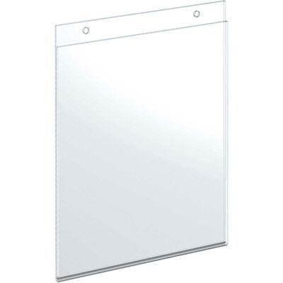 "Azar Displays 162718 Vertical Wall Mount Acrylic Sign Holder, 8"" x 10"", Acrylic"