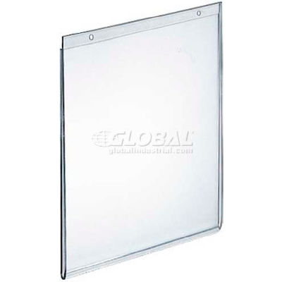 "Azar Displays 162720 Vertical Wall Mount Acrylic Sign Holder, 5.5"" x 7"", Acrylic"