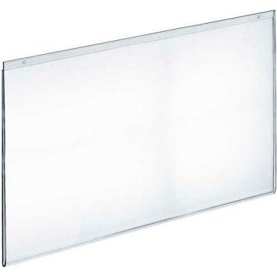 "Azar Displays 162729 Horizontal Wall Mount Acrylic Sign Holder, 22"" x 17"", Acrylic"