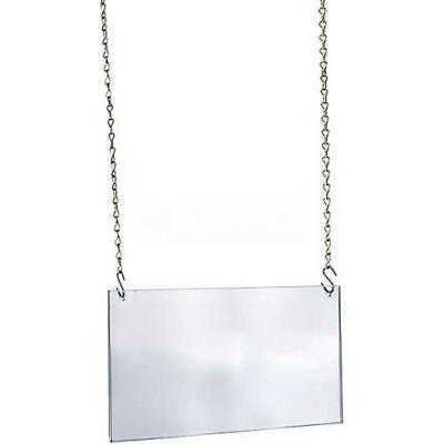 "Azar Displays 172709 Acrylic Hanging Poster Frame, 17"" x 11"", Acrylic ,1 Piece"