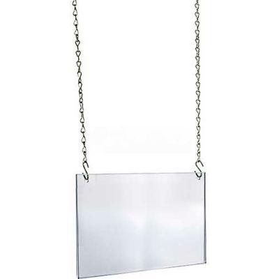 "Azar Displays 172711 Acrylic Hanging Poster Frame, 14"" x 11"", Acrylic"