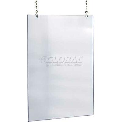 "Azar Displays 172736 Acrylic Hanging Poster Frame, 24"" x 36"", Acrylic ,1 Piece"