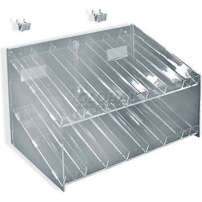 Azar 222987 2-Tiered, 14-Compartment Cosmetic Tray