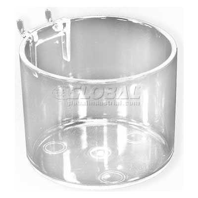 "Azar Displays 224051 Pegboard Cup Display For Pegboard/Slatwall, 4"" Diameter, Acrylic"