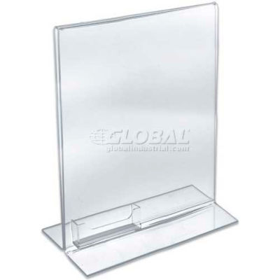 "Azar Displays 252040 Vertical Double Sided Stand Up Sign Holder, 8.5"" x 11"""