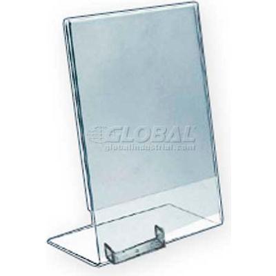 "Azar Displays 252050 Vert. Countertop Sign Holder W/ Business Card Pocket, 8.5"" x 11"""