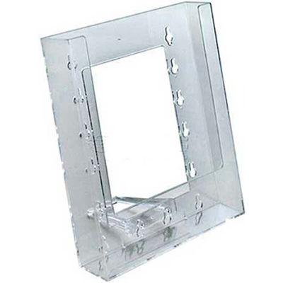 "Azar Displays 252301 Single Pocket Bi-Fold Size Countertop Brochure Holder, 6.25"" x 7.75""-Pkg Qty 10"