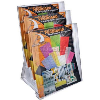 """Azar Displays 252304 3-Tier Letter Size Countertop Brochure Holder, 9"""" x 14.75"""""""