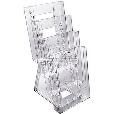 "Azar Displays 252307 4-Tier Bi-Fold Size Countertop Brochure Holder, 6.25"" x 13.25"""