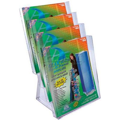 """Azar Displays 252311 4-Tier Letter Size Countertop Brochure Holder, 9"""" x 16.5"""""""