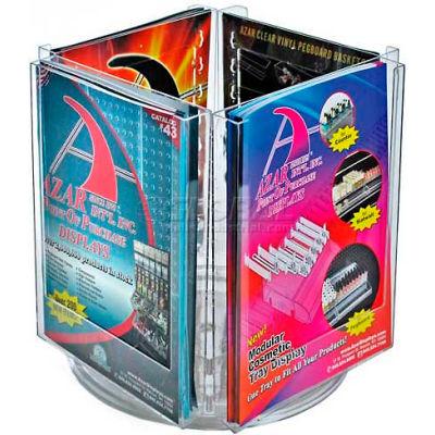 """Azar Displays 252321 4-Pocket Letter Size Brochure Holder On Revolving Base, 9"""" Base"""