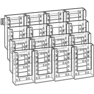 "Azar Displays 252324 16-Pocket Tri-Fold Size Wall Mount Display, 19"" x 15"", Acrylic ,1 Piece"