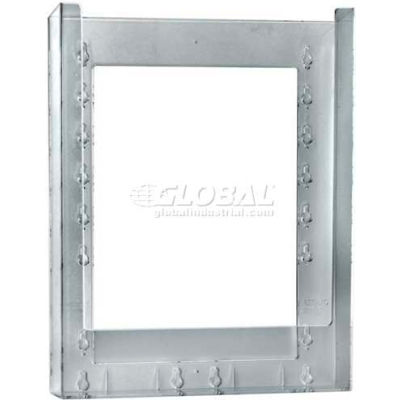 "Azar Displays 252330 Single Letter Wall Mount Brochure Holder 10-Pack, 9.125"" x 11.25"""