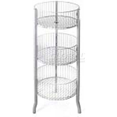 "Azar Displays 300703 3-Tiered Large Wire Bins, 45"" OAH, Metal ,1 Piece"