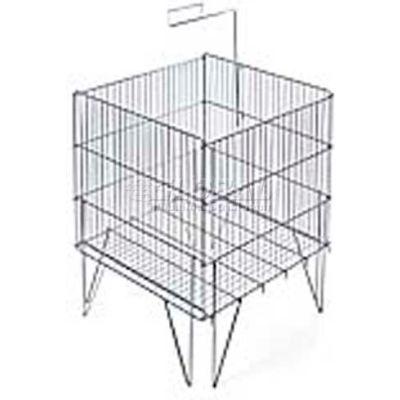 "Azar Displays 300704 Square Large Wire Dump Bin, 23"" x 33"", Metal ,1 Piece"