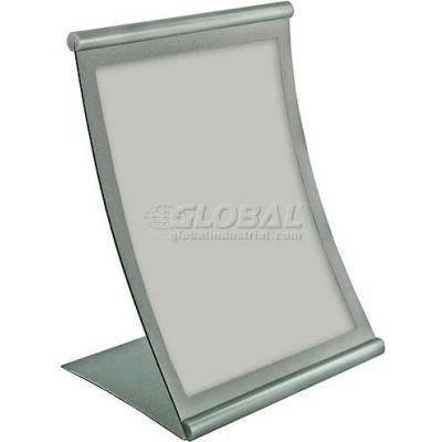 "Azar Displays 300880 Curved Countertop Sign Holder, 8.5"" x 11"", Metal ,1 Piece"