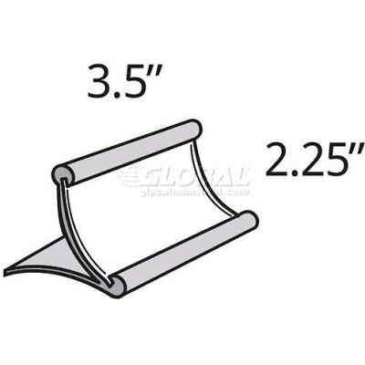 "Azar Displays 300884 Curved Countertop Sign Holder, 3.5"" x 22.25"", Metal ,1 Piece"