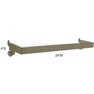 "Azar Displays 300955 4"" Deep U-Shaped Hang Rail, 24"" Wide, Metal ,1 Piece"